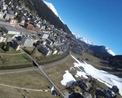 Tandem Gleitschirmflug Gebiet Davos