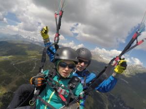 Daniel Leppert Thermikflug über Flims/Laax